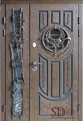 Двері полімерні на дві стулки №1