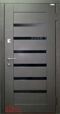 Дверь Веста с черным стеклом
